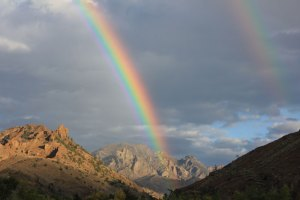 "Rainbow over the ""edge of the wild"""